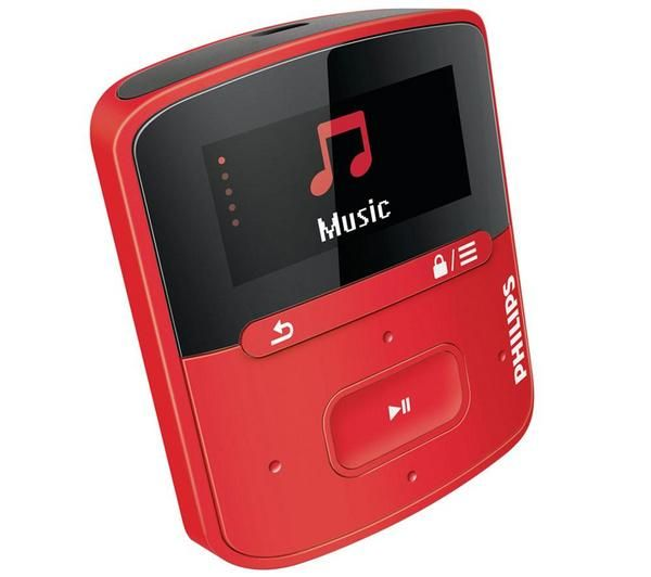PHILIPS MP-3 afspiller GoGEAR Raga - 4GB, Rød