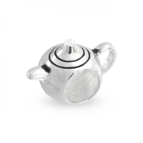 Bling Jewelry Teapot 925 Sterling Silver Bead Fits Pandora and Chamilia