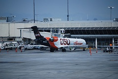 Horizon Air Bombardier RJ-700 in OSU Beavers' colors