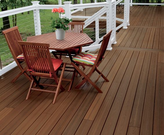 Tamko evergrain envision decking nice use of cable rails for Envision decking