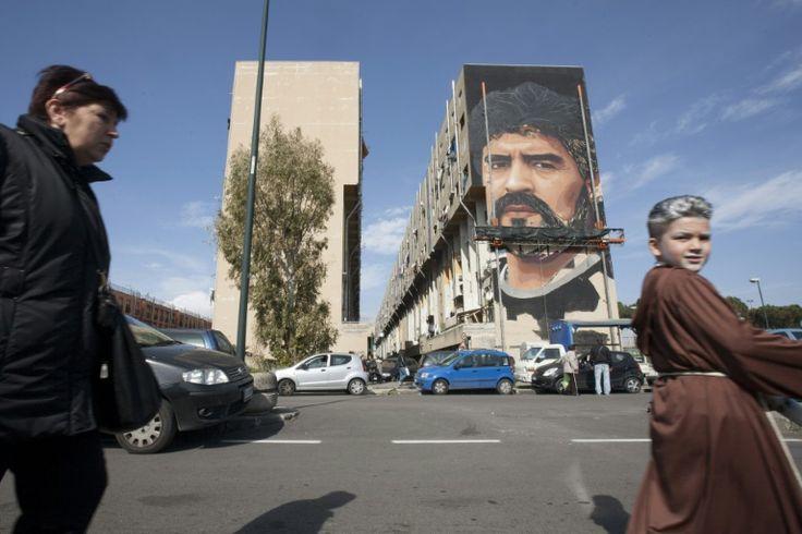 Maradona mural celebrates Naples 'Saint Diego'