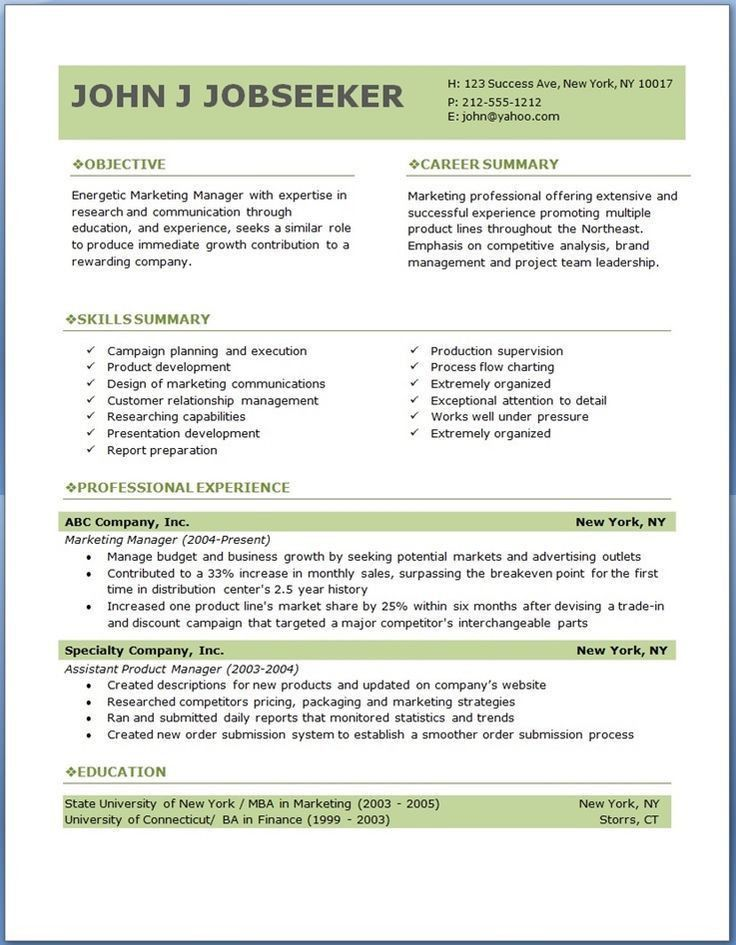 Download Professional Resume Templates Word  Haadyaooverbayresort