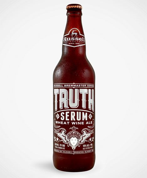 Russell Brewing Truth Serum Label by Atmosphere Design - Awesome beer label, I'd hope the beer does it justice!