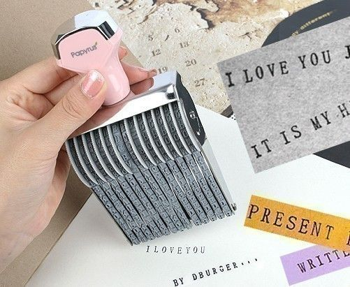 Perfect Alphabet Rolling Rubber Stamp. $24.99, via Etsy.