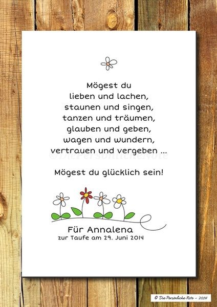 Druck/Wandbild/Print: Segenswunsch für Kinder von Die Persönliche Note auf DaWanda.com