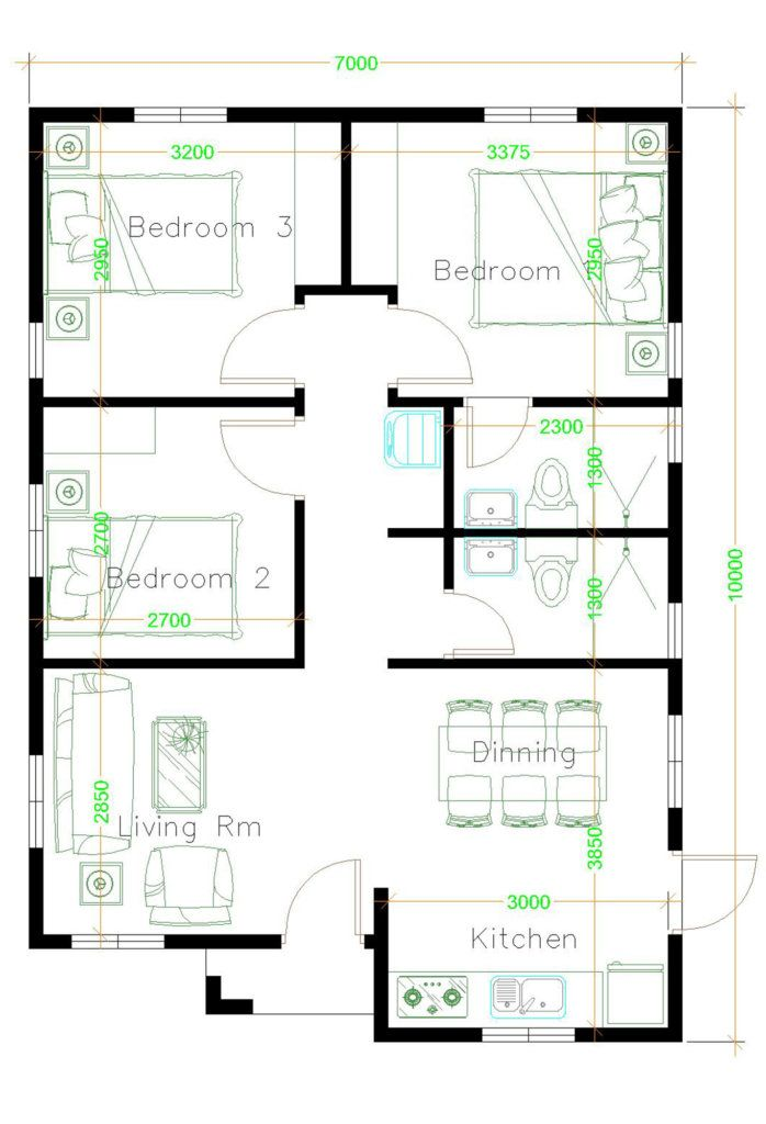 Small House Plan Ideas For Different Area Engineering Discoveries House Plans Three Bedroom House Plan House Construction Plan