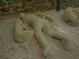 Ruins of Pompeii --Body Casts Of Victims of Mt. Vesuvius eruption in AD 79 -- there are no words!!
