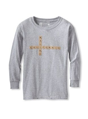 67% OFF Little Dilascia Kid's Malibu Scrabble Long Sleeve Tee (Grey)