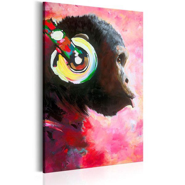 Obraz malowany 60x90 małpa g-A-0103-b-a - artgeist - Obrazy akrylowe #art #monkey #painting