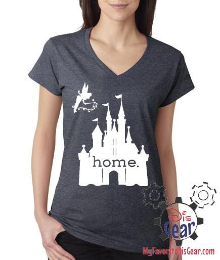 Disney Is My Home, Ladies T-Shirt, Deep Heather Gray - New