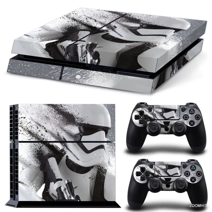 Ps4Playstation 4Console Skin autocollant Decal Stickers Star Wars Stormtrooper + 2Contrôleur Set autocollant