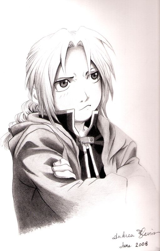 Edward Elric seems to have a pouty face. :(