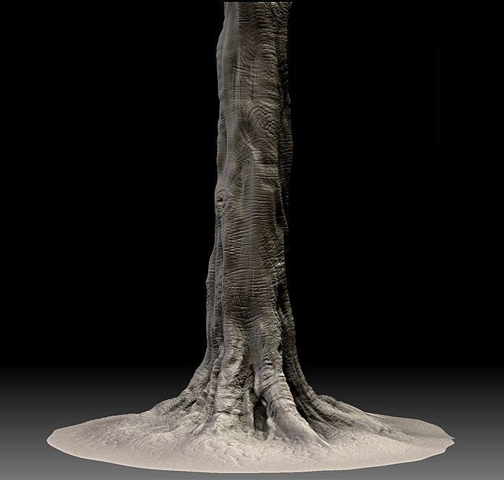"zbrush animation | ... of an oak tree for ""Elephant Jokes"" Animation Project…"
