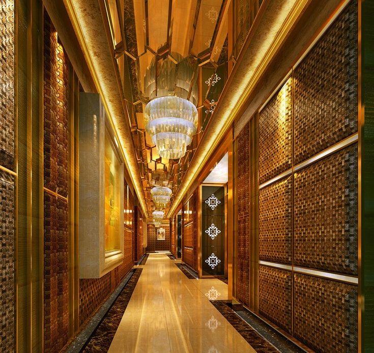 Corridor Design: Luxury Lighting Corridor Hotel Interior Design 3D