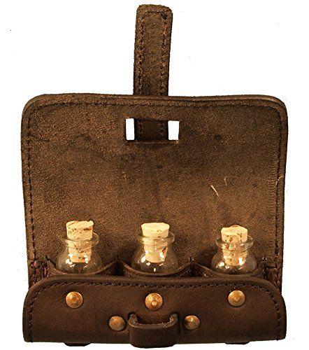 Wizard 3 Bottle Potion Pouch, brown leather, LARP Epic Armoury http://www.amazon.com/dp/B00EIHBNV6/ref=cm_sw_r_pi_dp_gRhhub1TSSCMV