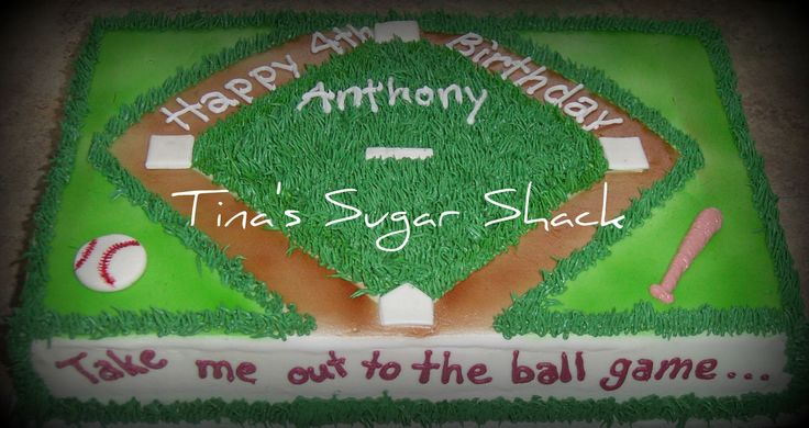 baseball birthday cakes for kids | Baseball Birthday cake - Now offering face painting for events and ...
