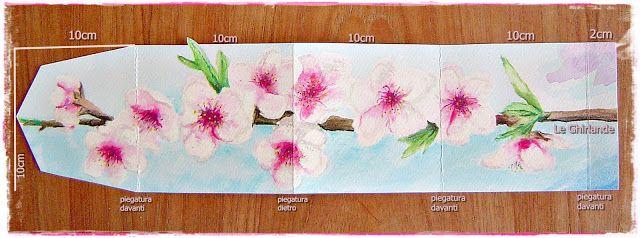 Le Ghirlande: Card con fiori di pesco e mimosa