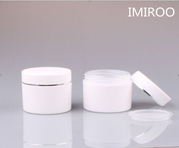 Free Shipping 30pcs/lot 30g Double Wall White Round Cream Jars, Plastic Containers, 1 oz Cosmetic Sample Bottles #Affiliate
