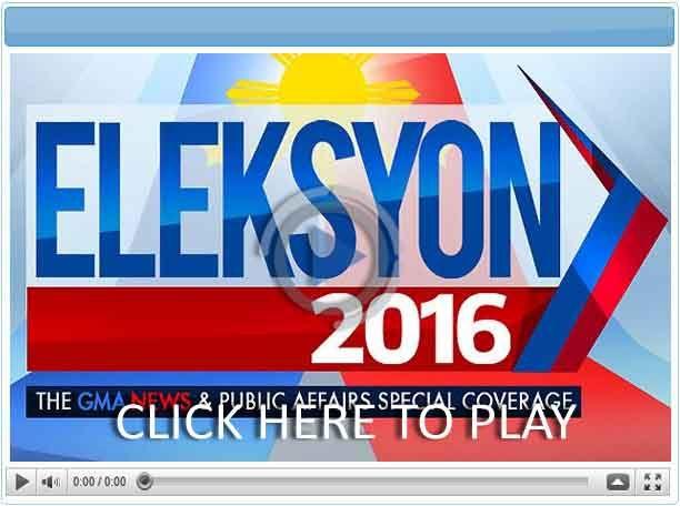 Eleksyon 2016: the GMA News and Public Affairs Coverage - Pinoy Show Biz  Your Online Pinoy Showbiz Portal