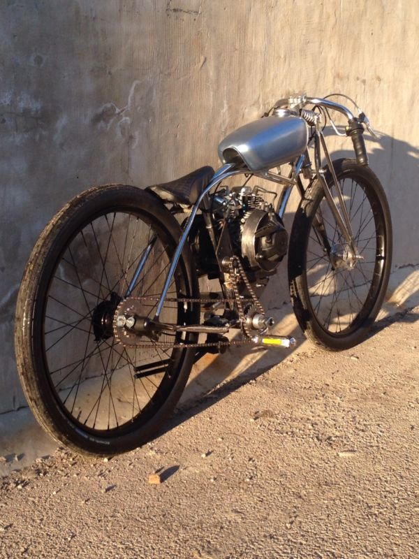 Boardtrack Racer Inspired Motorized Bicycle