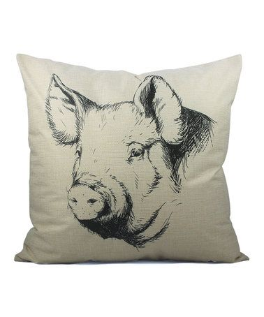 Another great find on #zulily! Pig Cottage Throw Pillow #zulilyfinds