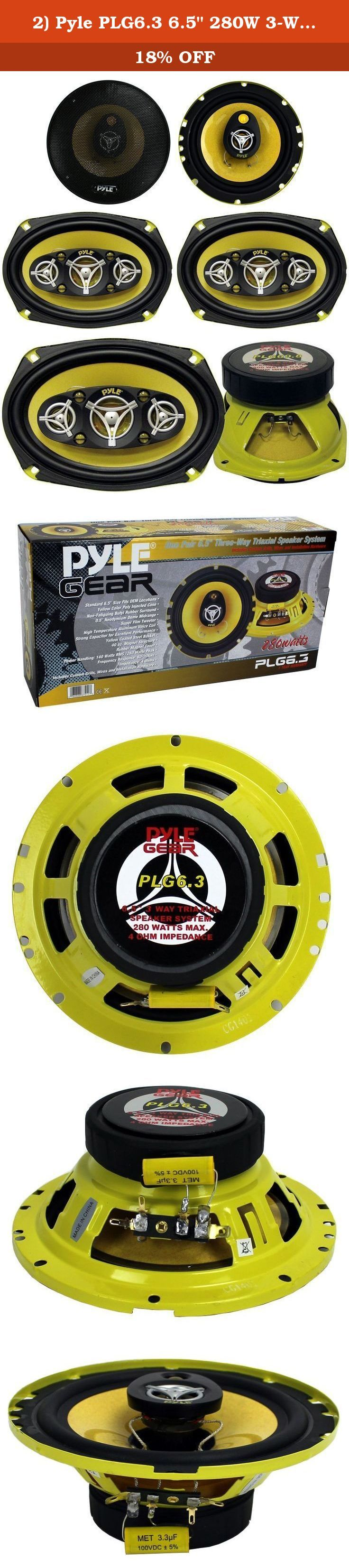 "2) Pyle PLG6.3 6.5"" 280W 3-Way + 2) PLG69.8 6x9"" 500W 8-Way Car Audio Speakers. Package Includes: Pyle PLG6.3 6.5"" 280W 3-Way Car Speakers (1 pair) Pyle PLG69.8 6x9"" 500W 8-Way Car Speakers (1 pair) ----- The Pyle PLG6.3 speakers are designed to provide the best quality sound for the budget-minded enthusiast. These 6.5', three-way speakers have 280 watts of pure power, supported by a super film tweeter for sweet highs, 0.5' neodymium dome for mids, and a high temperature voice coil to…"