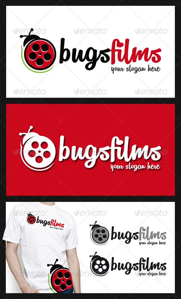 Bug Films Logo Template — Vector EPS #website #cinema logo • Available here → https://graphicriver.net/item/bug-films-logo-template/4644733?ref=pxcr