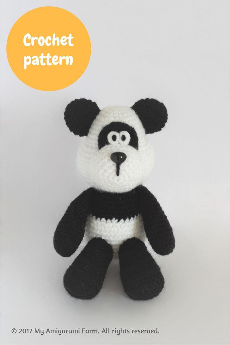 Crochet panda bear amigurumi pattern