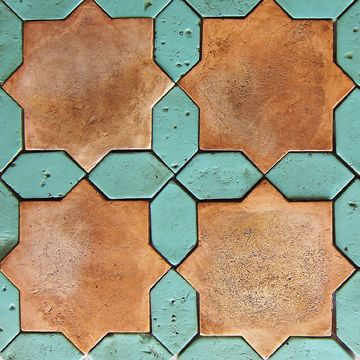 .Handmade geometric tiles.
