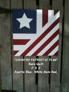Patriotic Flag Barn Quilt & Others