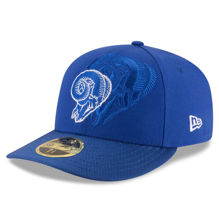 Los Angeles Rams New Era Sideline Classic Low Profile 59FIFTY Fitted Hat - Royal