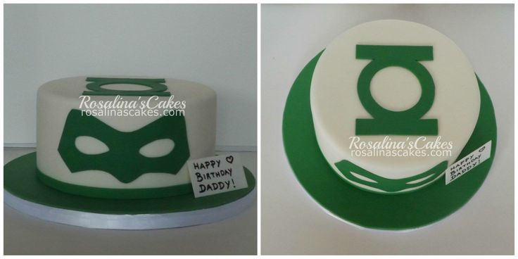 Green lantern themed cake.