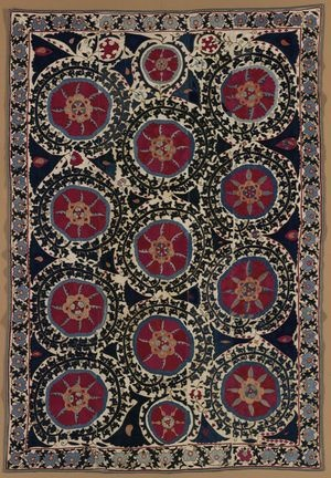 Ceremonial Hanging (Suzani)  Central Asian, 1850-1899  Indianapolis Museum of  Art