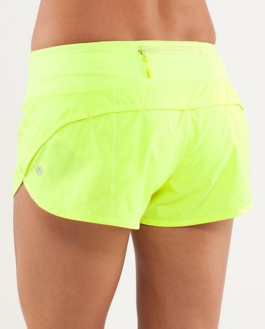 Lululemon neon wind shorts||