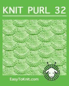 #Knit Scales stitch, Fácil Knit Purl Padrão #easytoknit