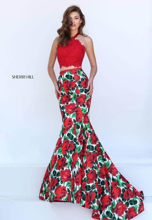 (Foto 19 de 30) Top rojo y falda tipo sirena con estampado floral, Galeria de fotos de Vestidos estampados para el próximo año: ¿Qué eres más de flores o cerezas?