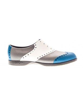 Scarpe Biion da golf - Bianco, blu, argento  #golf #sport #sporty #clothing #accessories #golffashion #fashion #classy #style #preppy #shoes #cool #texture #lifestyle #footwear #elegant #blue #white #camo  #pastel