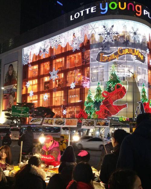 #christmas #korea #lotte #myeongdong