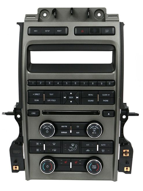 2010-2012 Ford Taurus Radio and Temperature AC Heat Control Panel AG1T-18A802-CB