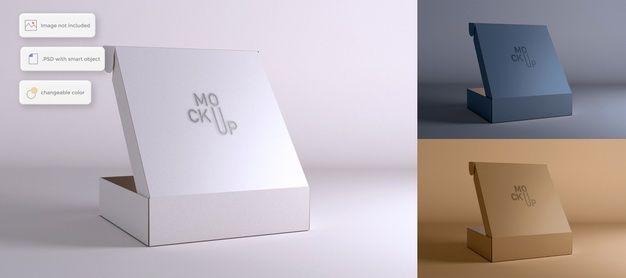 Download Opened Packaging Box Mockup Box Mockup Box Packaging Packaging