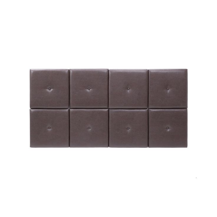 foremost tessa headboard tiles with tuft in espresso pu queen brown - Kopfteil Plant Knig