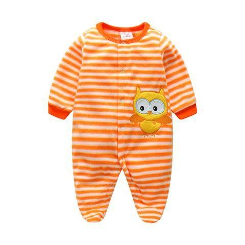 87ee629a7193 Clearance Sale Baby Boy Rompers Autumn Warm Polar Fleece Clothing Set Cartoon  Infant Girl Clothes Newborn
