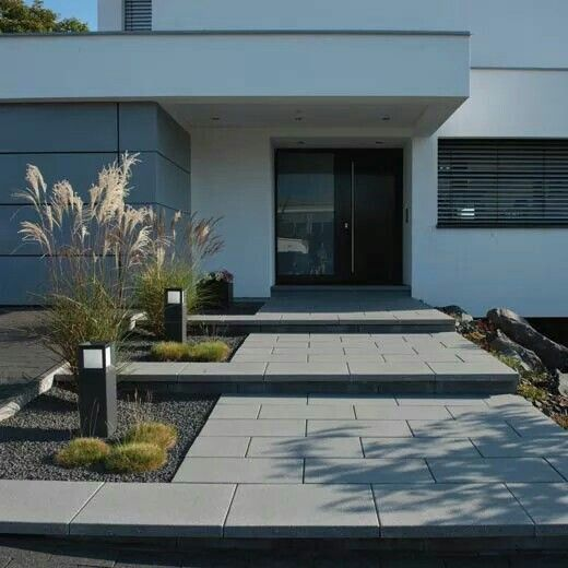 Front entrance path, landscape design