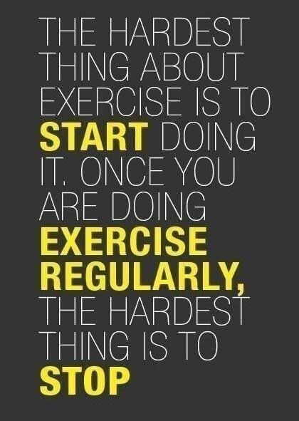 Start a healthy habit TODAY! EXERCISE!!!