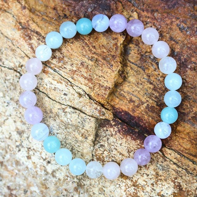 The UNICORN BRACELET  these colours + crystals will make your heart feel extra sparkly 💖.