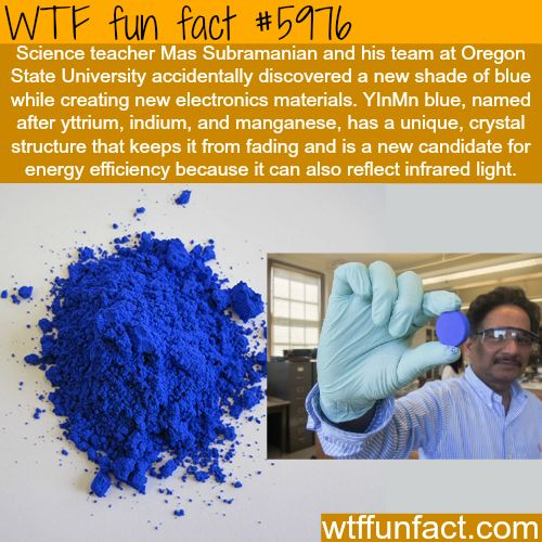 Researchers just discovered a new shade of blue - WTF fun facts