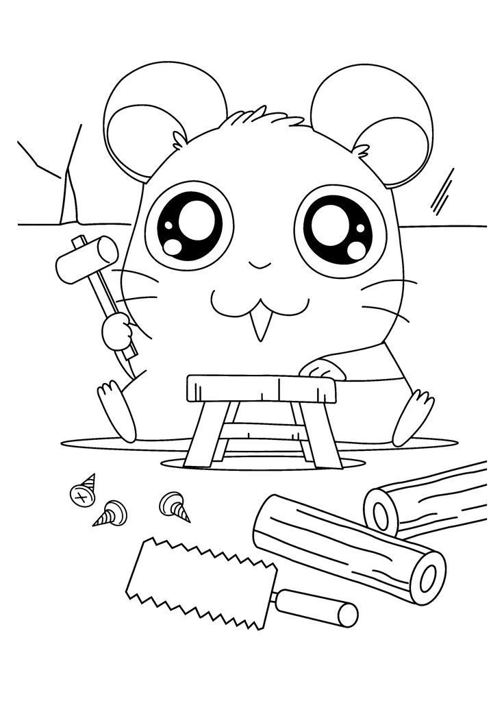 23 best Hamtaro Coloring Pages images on Pinterest Hamtaro