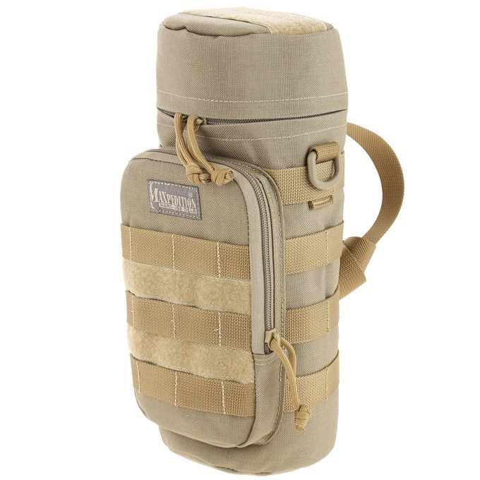 """Maxpedition - 12""""x5"""" Bottle Holder - Check out our collection of MOLLE Gear, MOLLE Pouches, Velcro Pouches, Tactical Pouches, MOLLE Tactical Gear, Modular Pouches, Modular MOLLE Pouches, Modular MOLLE Velcro Pouches, First Aid Pouches, Medical MOLLE Pouches, Molle Gadget Pouch, EMT Pouch, First Aid MOLLE pouches, M.O.L.L.E Compatible Gear, Airsoft MOLLE Pouches, Hydration Pouches, Munitions Pouches, Rip-away Pouches, Modular Gear, Utility and Dedicated Pouches."""