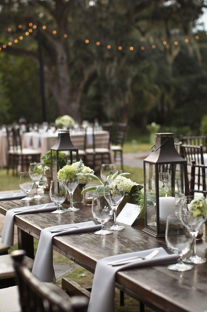 Rustic Outdoor Wedding Reception Garden Wedding