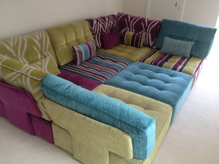 Sofa Pillow Design Ideas Sofas Pillows 6 Tapas Modules In Bright Sunshine Colours. | Modular ...